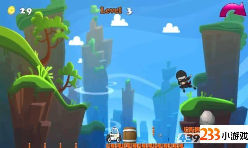 忍者英雄跑酷 - 233小游戏