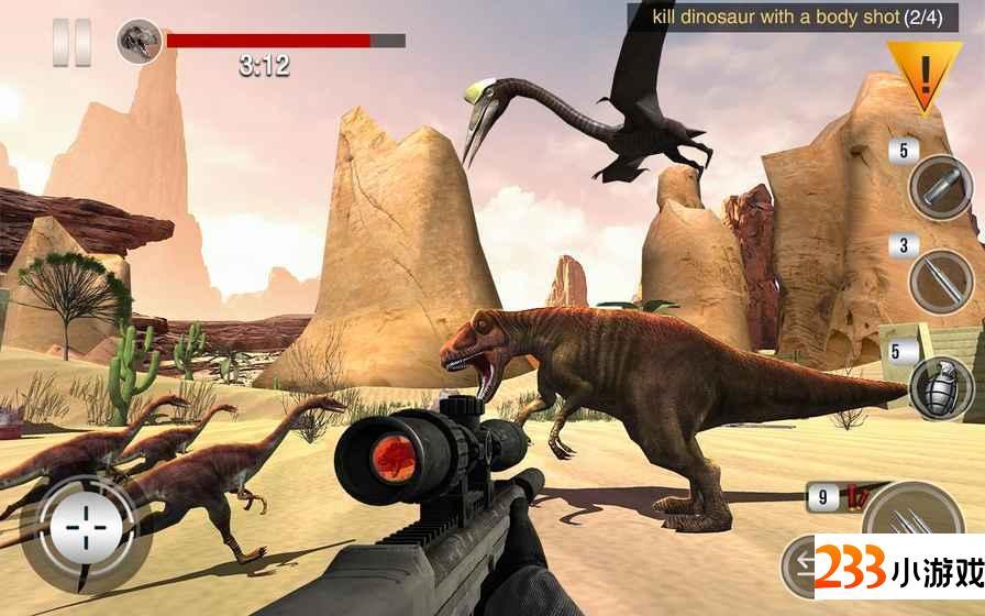 恐龙狩猎免费狙击手野生动物园 - 233小游戏
